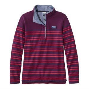 NEW L.L. Bean Soft Cotton Rugby Stripe Pullover M